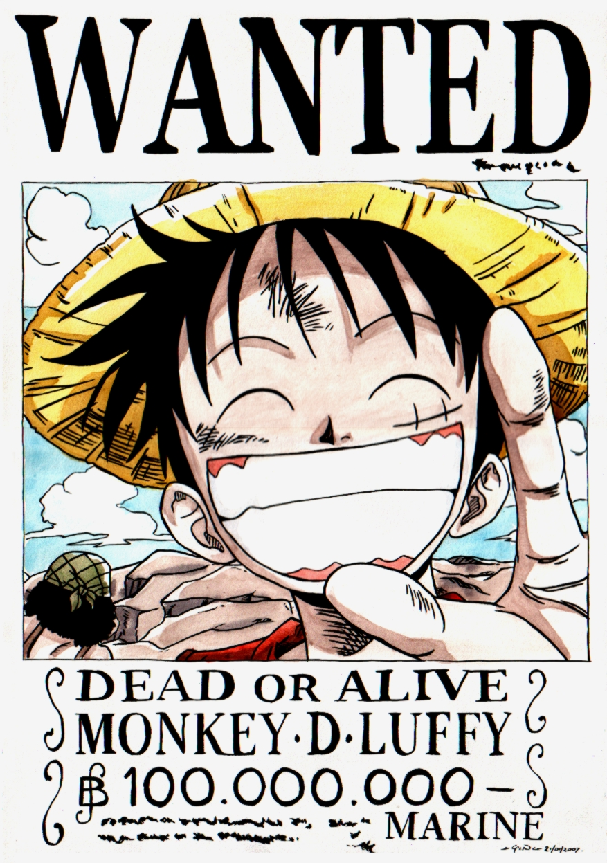 OnE PiEcE FC Wanted%20luffy